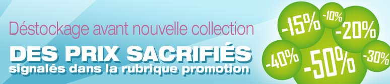 D�stockage avant nouvelle collection